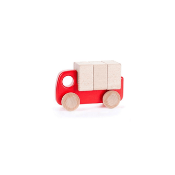 Wooden Truck with Blocks, Red