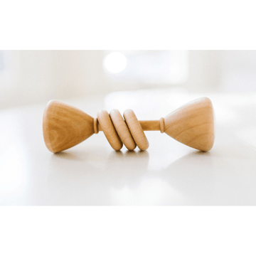 bannor toys classic wooden baby rattle