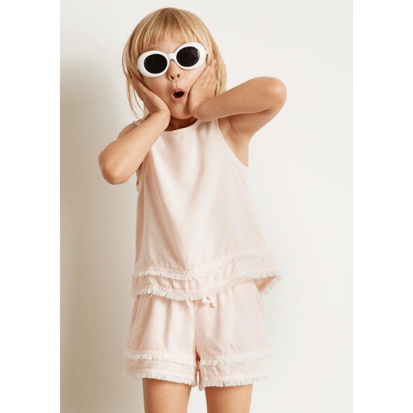 bella dahl fray hem flowy short in pink