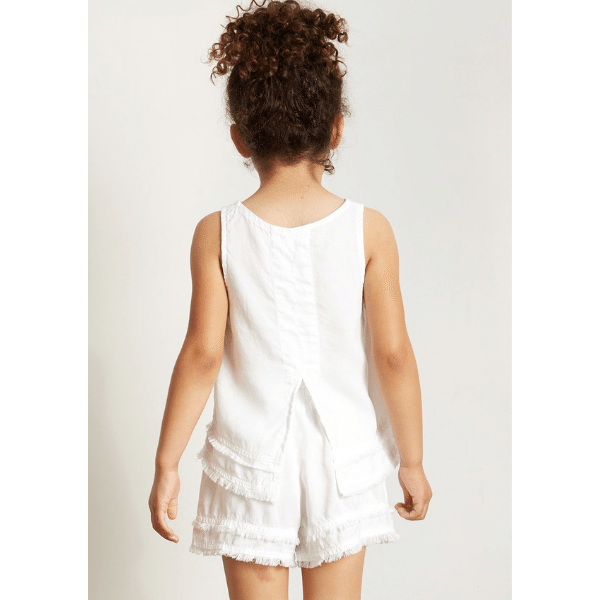 bella dahl fray split back tank soft tencel for girls