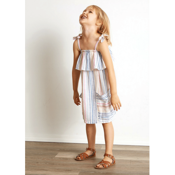 bella dahl ruffle dress white pink blue for girls