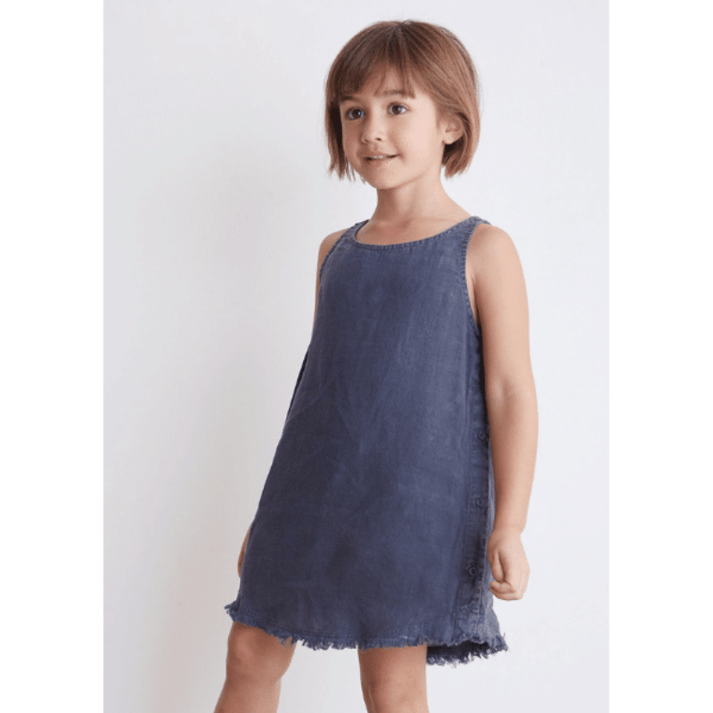 bella dahl side button dress in navy