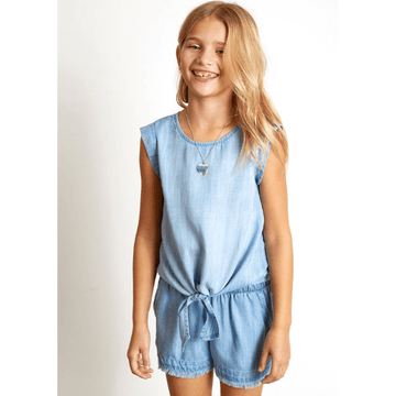 bella dahl tie front shell top for girls