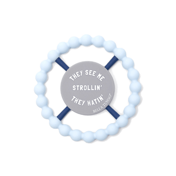 bella tunno light blue strollin teether