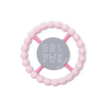 bella tunno light pink girl power happy teether