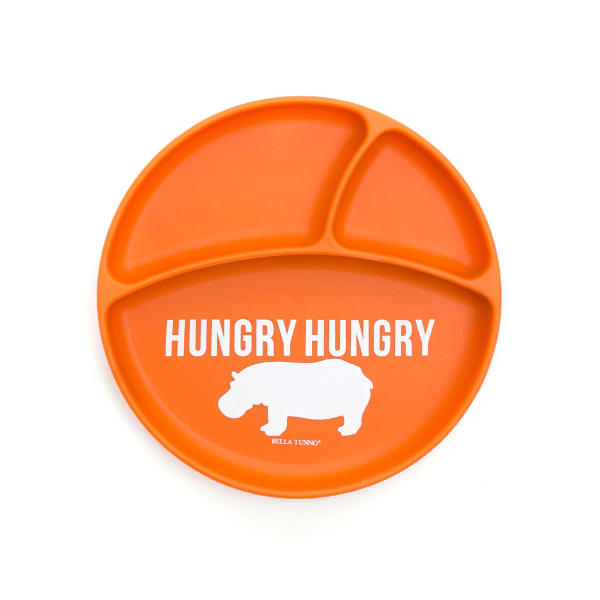 bella tunno orange hungry hippo suction plate