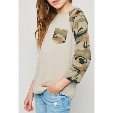 long-sleeve camo baseball tee