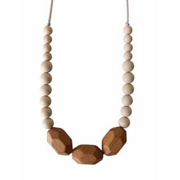 chewable charm the austin teething necklace cream