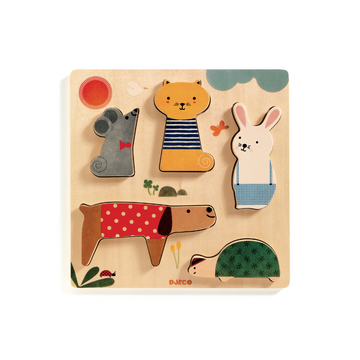 wooden puzzles, pets