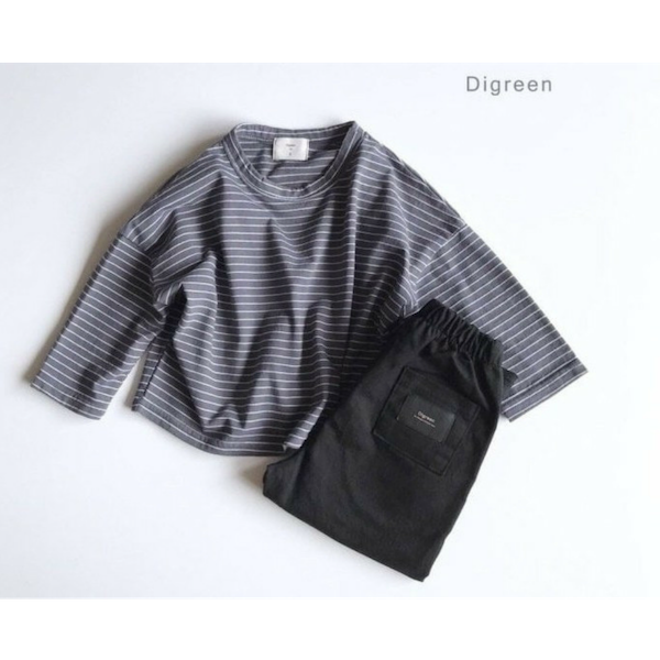 digreen simple pants black