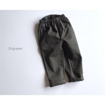 digreen simple pants khaki