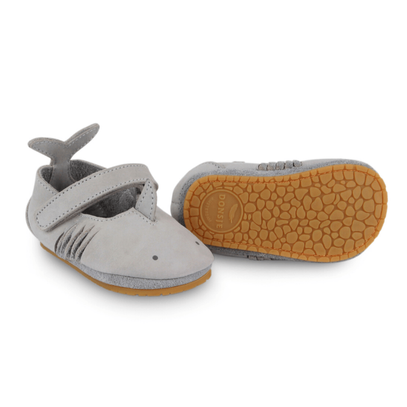 amigu leather baby shoes, shark