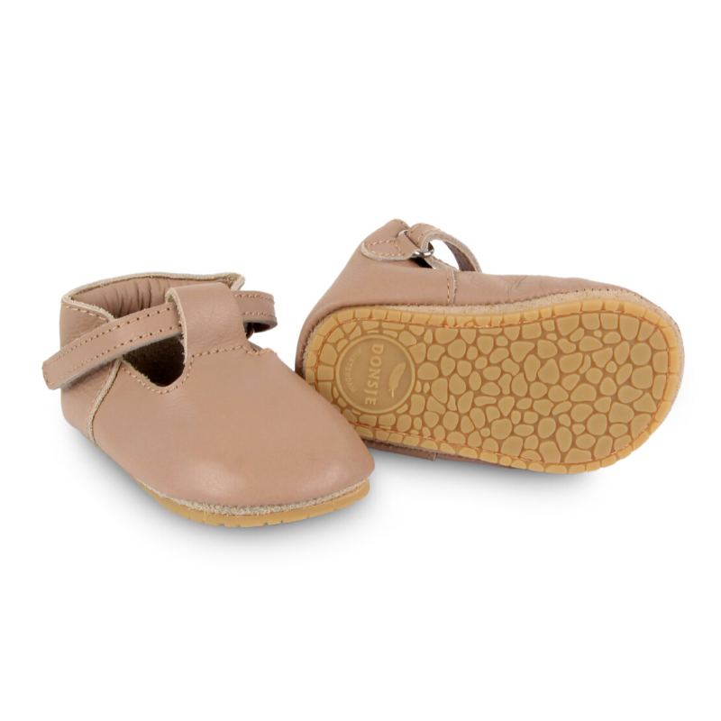 donsje elia leather baby shoe rubber sole