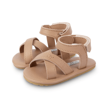 giggles leather baby sandals, praline