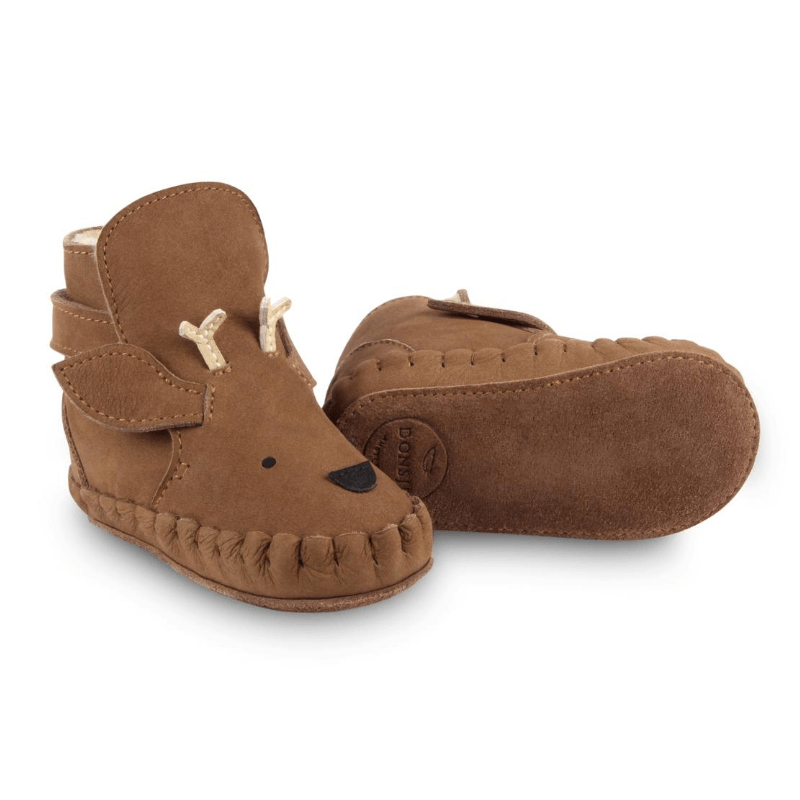 Kapi Shearling Leather Baby Boots, Stag