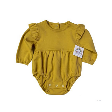 emerson and friends l/s flutter onesie, mustard