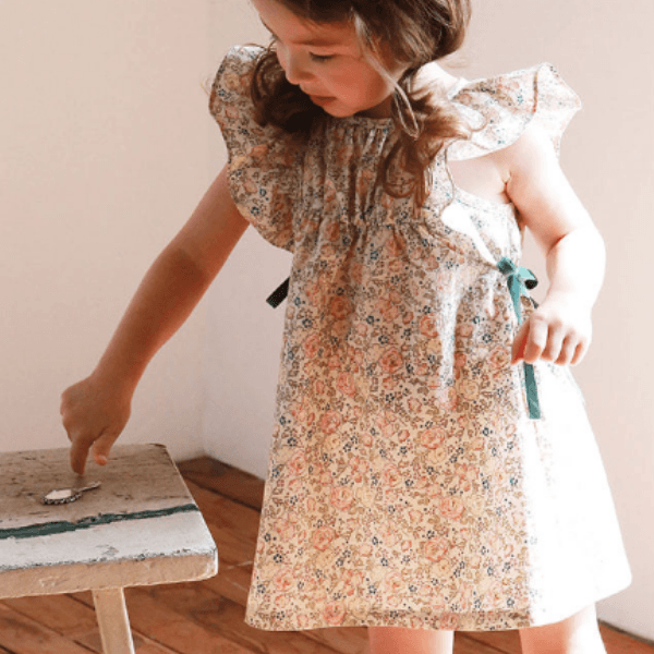 flo lily dress with frill sleeves