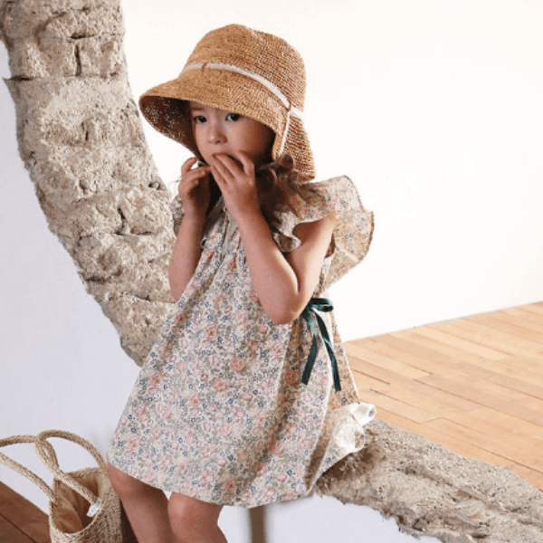 flo lily dress in soft cotton for girls