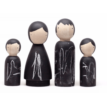 the chalk people peg doll set