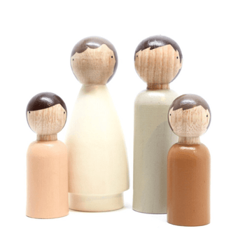 goose grease the organic family peg doll set