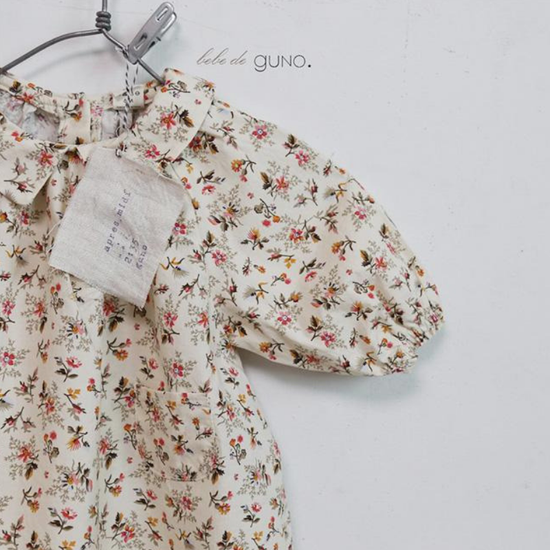 guno bebe maki collar dress in floral