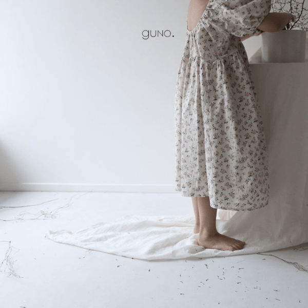 guno lena dress in cotton floral