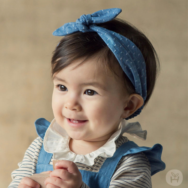 happy prince denim bow headband
