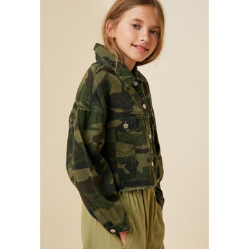 hayden cropped camo jacket for tween girls