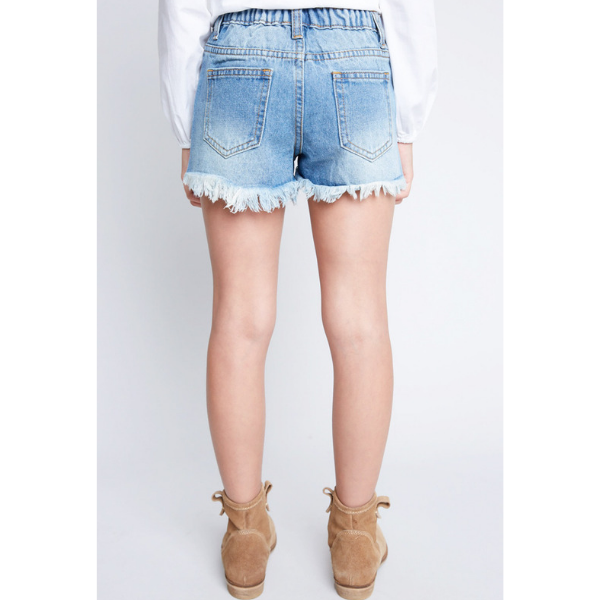 hayden distressed denim shorts with sequin pocket detail_relaxed fit