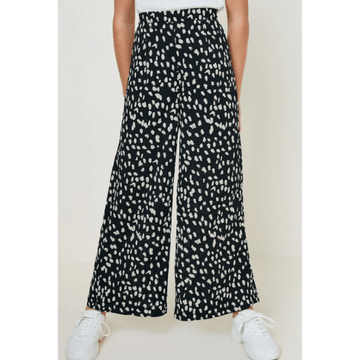 hayden dotted wide-leg pant for tween girls