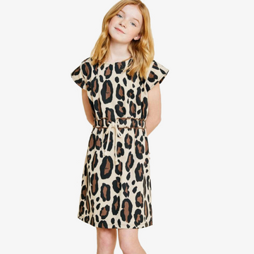hayden girls leopard french terry dress