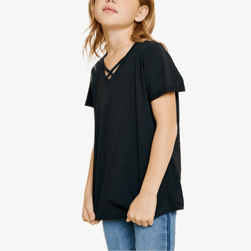 hayden v-neck cotton tee for tween girls
