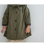 hooded trench jacket