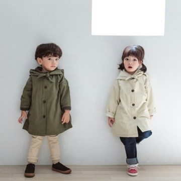 hooded trench jacket (6-7y +8)