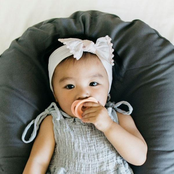 The Pop and Go Pacifier Set, Just Peachy + Upper Rust