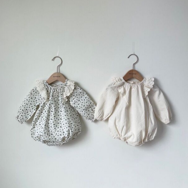 monbebe lace wing romper for baby girls