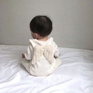 lala angel suit in mocha for baby boys and girls