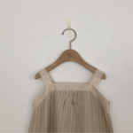 lala bell dress in beige with lace details