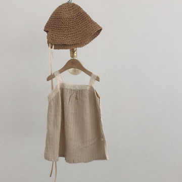 bella dress in beige (2-3y, 5-6y)
