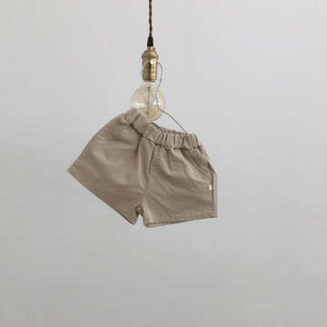 lala everday cotton shorts in beige