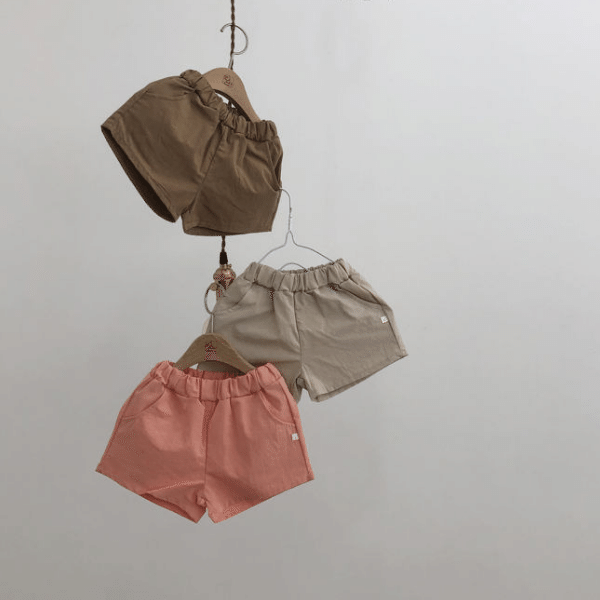 lala everyday shorts in brown for toddlers