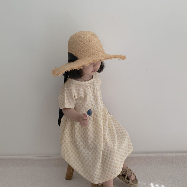 lala ray dress in yellow cotton