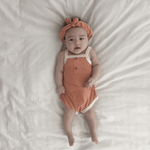retro romper in orange