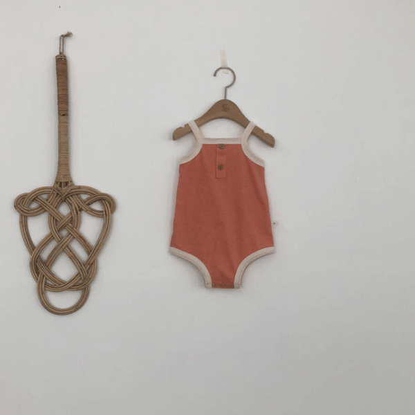 lala retro romper in orange cotton