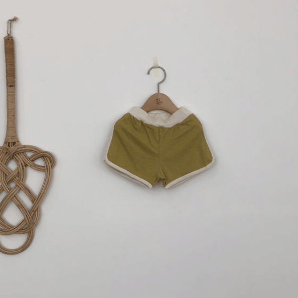 retro shorts in olive