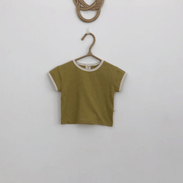 lala retro tee in olive cotton