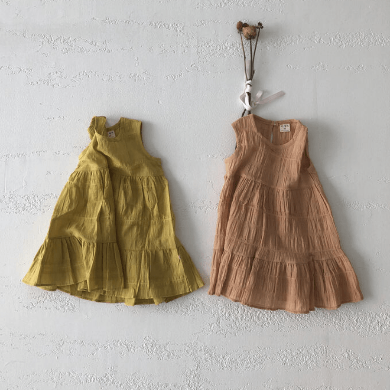 florence tiered dress, yellow