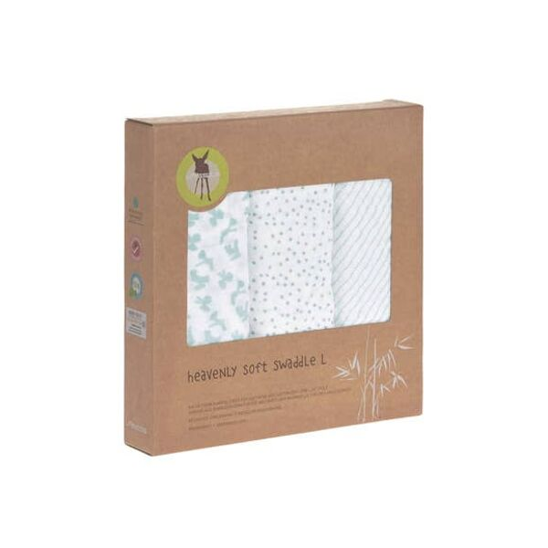 lassig lela heavenly soft swaddle, mint bamboo