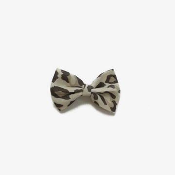 jireh bow loepard bow in cream for toddler girls