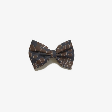 leopard bow, dark blue